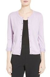 Kate Spade Women's New York 'Somerset' Cotton Blend Cardigan Lilac Charm