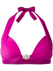 Versace Push Up Halter Bikini Pink Purple