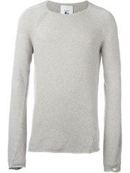 Lost And Found Rooms Crew Neck Knit Sweater Grey