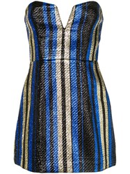 Alice Mccall One World Striped Dress Blue