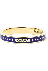 Foundrae Karma 18 Karat Gold Enamel Ring