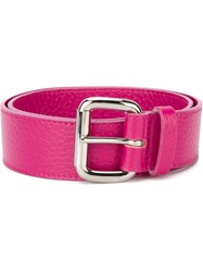Orciani Square Buckle Belt Pink And Purple