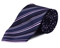 Double Two Stripe Tie Pink