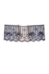 Vanessa Mooney Midnight Lace Choker Navy