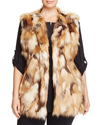 Sioni Plus Long Faux Fur Vest Natural