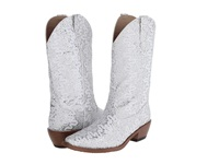 Roper Lace Glitter Snip Toe Boot White Cowboy Boots
