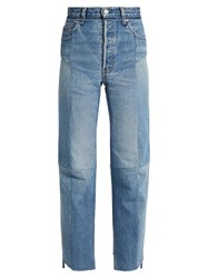 Vetements Reworked High Rise Straight Leg Jeans Light Blue