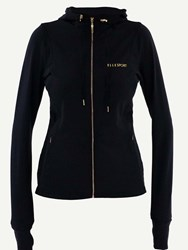 Elle Sport Sleek Energising Sports Jacket With Hood Black