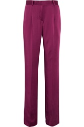 Jonathan Saunders Lucia Satin Wide Leg Pants Purple