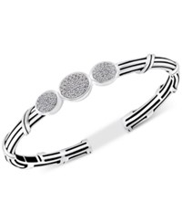 Peter Thomas Roth White Topaz Cuff Bracelet 3 4 Ct. T.W. In Sterling Silver