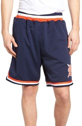 Mitchell And Ness Men's Detroit Tigers Playoff Win Mesh Shorts