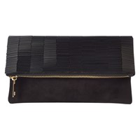 Coast Bugle Beaded Clutch Bag Black