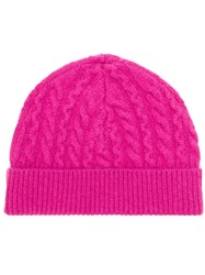 Aspesi Cable Knit Beanie Pink