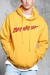 Forever 21 Baywatch Graphic Hoodie Yellow Red