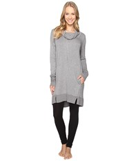Midnight By Carole Hochman Lounge Pullover Grey Heather Women's Pajama Gray