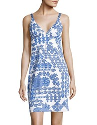 Tommy Bahama Stamped Medallion Printed Double Strap Coverup Blue