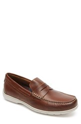 Rockport Men's Total Motion Penny Loafer Tan Leather