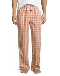 Psycho Bunny Check Drawstring Lounge Pants Orange Grande Check