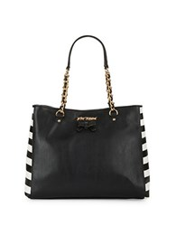 Betsey Johnson Sticky Situation Tote And Patches Set Black