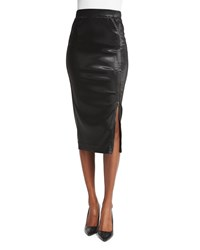 Atm Anthony Thomas Melillo Sparkle Zip Pencil Skirt Black