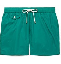Hartford Mid Length Swim Shorts Green