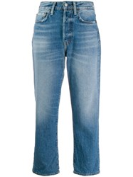 Acne Studios Cropped Jeans Blue