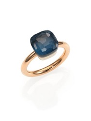 Pomellato Nudo London Blue Topaz And 18K Rose Gold Ring Rose Gold Topaz