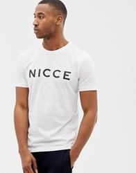 Nicce London T Shirt In White With Logo