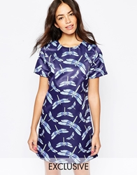 Mod Dolly 60S Shift Dress In Dragonfly Print Dragonflyprint