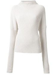 Dion Lee Ribbed Cocoon Knit Nude Neutrals