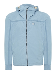 Duck And Cover Garner Casual Full Zip Windbreaker Light Blue