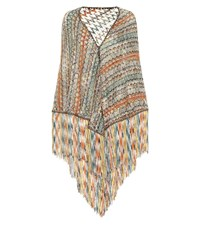 Missoni Knitted Wool Blend Scarf Multicoloured