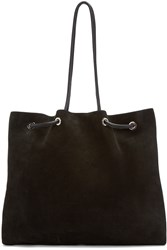 Cnc Costume National Black Suede Tote Bag