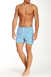 Parke And Ronen Stripe Volley Short Blue