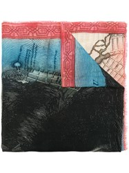Faliero Sarti Williamsburg Printed Scarf Black
