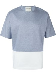 Stephan Schneider Colour Block T Shirt Blue
