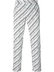 Dolce And Gabbana Striped Trousers White