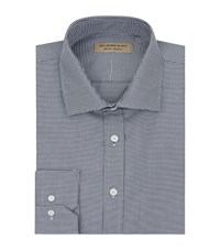 Burberry Puppytooth Patterned Shirt Male Blue