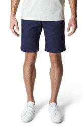 7 Diamonds Slim Fit Brushed Twill Shorts Midnight