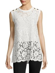 Dolce And Gabbana Sleeveless Lace Top White