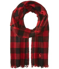 Polo Ralph Lauren Vintage Cashmere Plaids Red Holiday Check Scarves