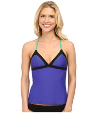 Prana Aleka Tankini Sail Blue Women's Swimwear Navy