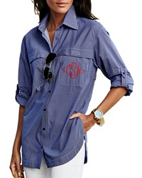 Finley Monogram Double Pocket Fishing Shirt Women's
