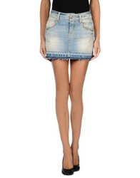 Roy Rogers Roy Roger's Denim Skirts Blue