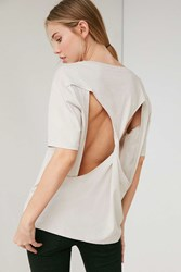 Silence And Noise Blade Open Back Tee White