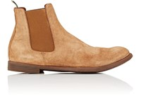 Officine Creative Washed Suede Chelsea Boots Dk.Brown