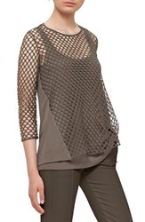 Akris Punto Women's Stretch Cotton Mesh Top