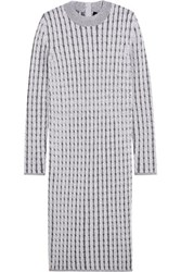 Proenza Schouler Cable Knit Wool Blend Dress Stone