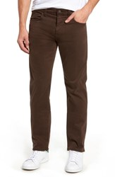 Mavi Jeans Zach Straight Fit Twill Pants Coffee Bean Twill