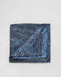 Noose And Monkey Pocket Square Blue
